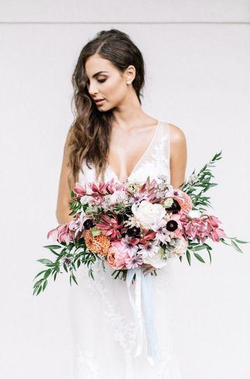 Violet Rose Floral