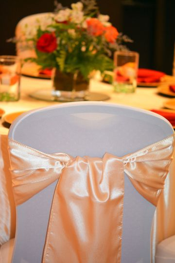 Chair Covers and Bow
