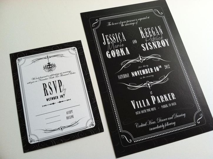 Pier 9 graphic design invitations castle rock co weddingwire stopboris Gallery