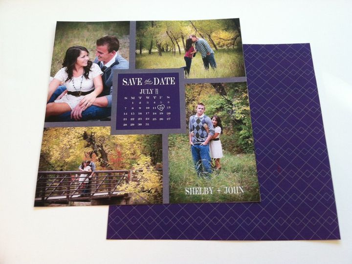 Tmx 1352393804473 CalendarPurpleGray Castle Rock wedding invitation