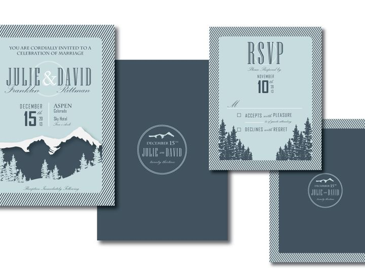Tmx 1382132142846 Aspen Invitation Suite Castle Rock wedding invitation