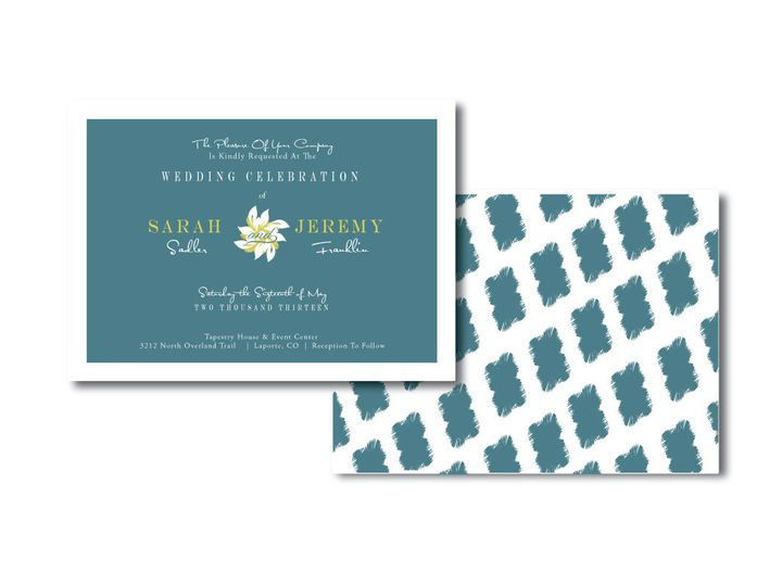 Tmx 1382132150292 Blue Floral Invitation Castle Rock wedding invitation