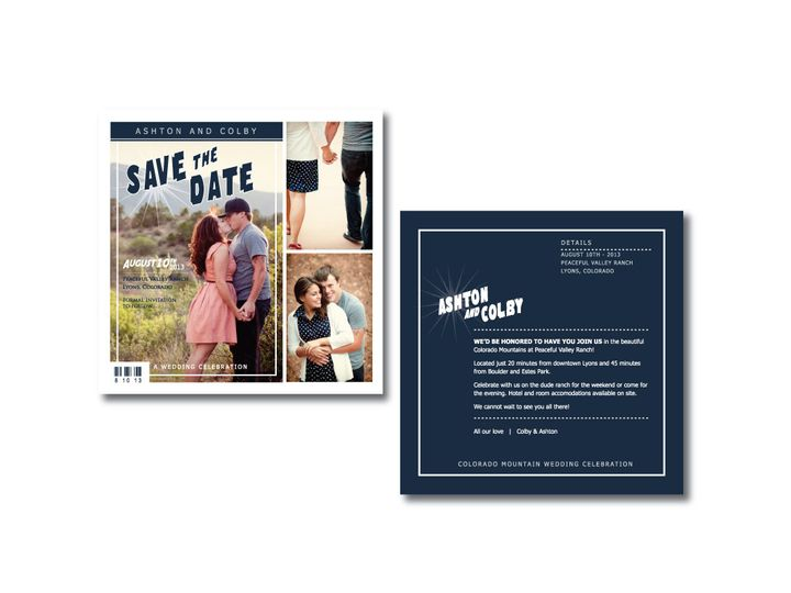 Tmx 1382132224884 Save The Date Castle Rock wedding invitation
