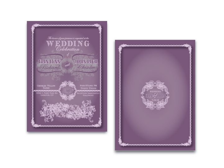 Tmx 1382132228261 Vintage Invitation Castle Rock wedding invitation