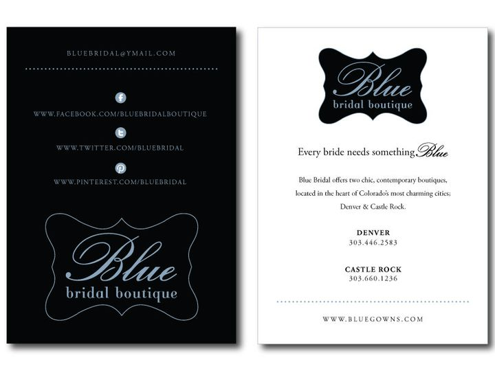 Tmx 1382132857748 Postcard Blue Bridal Castle Rock wedding invitation