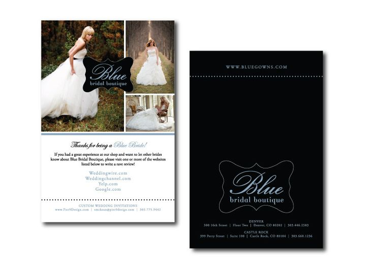 Tmx 1382132860965 Referral Card   Blue Bridal Castle Rock wedding invitation
