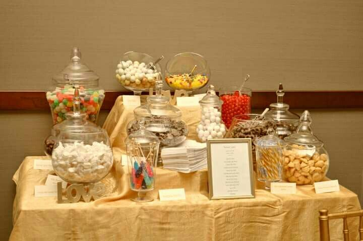 Champagne Gold Wedding Sweet Table