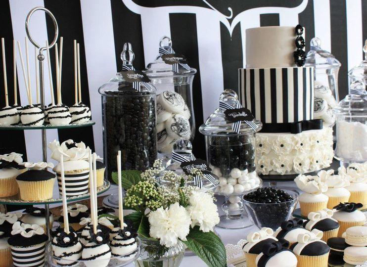 Elegant Black White Party Dessert Table