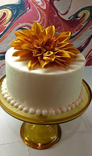 Custom Floral Foliage Cake