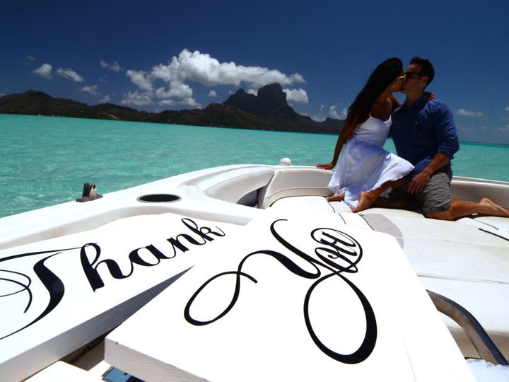 Tmx 1415388647050 Damien Dunand Bora Bora Love Boat Tour Lauren Mele Olympia wedding eventproduction