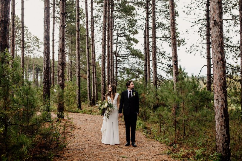 Modern Pinewood Wedding