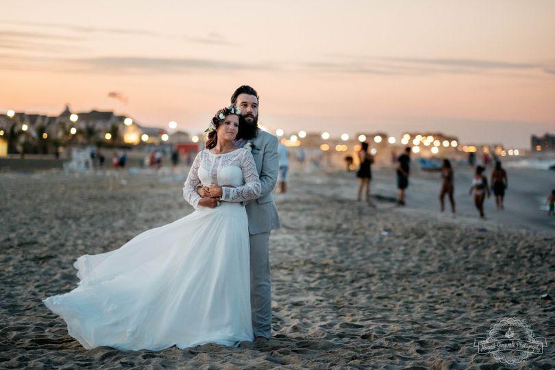 Wedding photo shoot at the beach