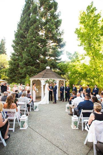 Gazebo Wedding Ceremony in Summer