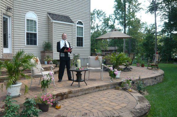 The grounds of our executive home in Vineland, NJ is the perfect setting for a romantic ceremony.