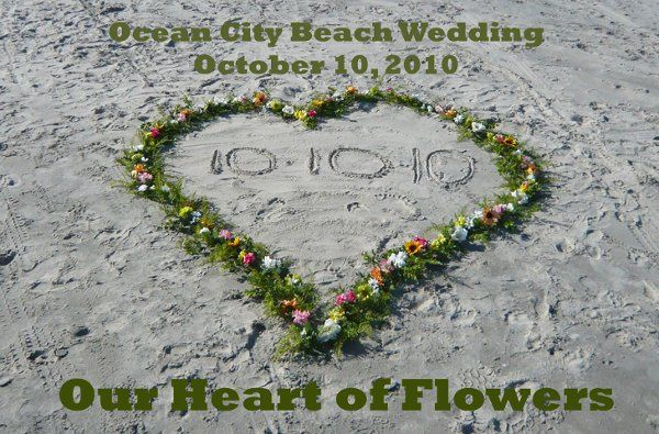 Our heart of flowers.  Perfect for your beach ceremony!