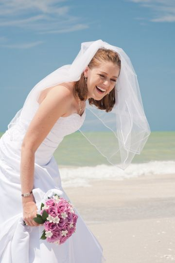 Happy bride photograph taken at the Casa Ybel Resort on Sanibel Island