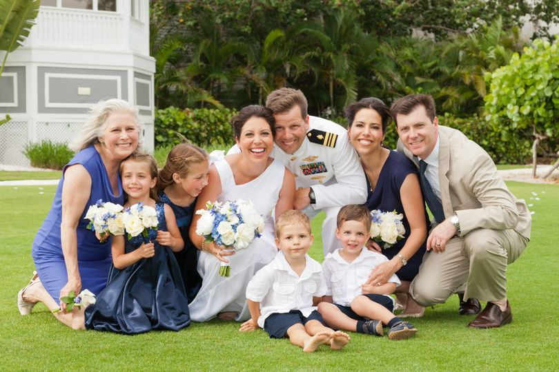 happy family photo at this Casa Ybel Resort wedding on Sanibel Island