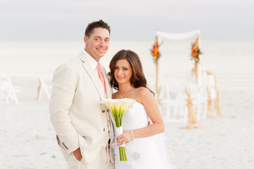 Quiet moment for the bride and groom after their Casa Ybel Wedding on Sanibel Island