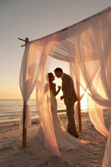 Intimate wedding ceremony on Marco Island beach