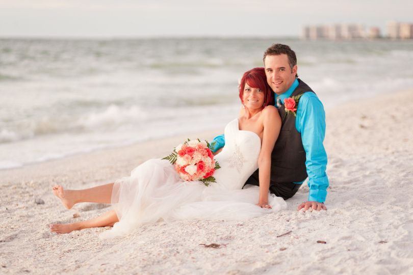 this couple from Canada enjoy their beach wedding on Marco Island