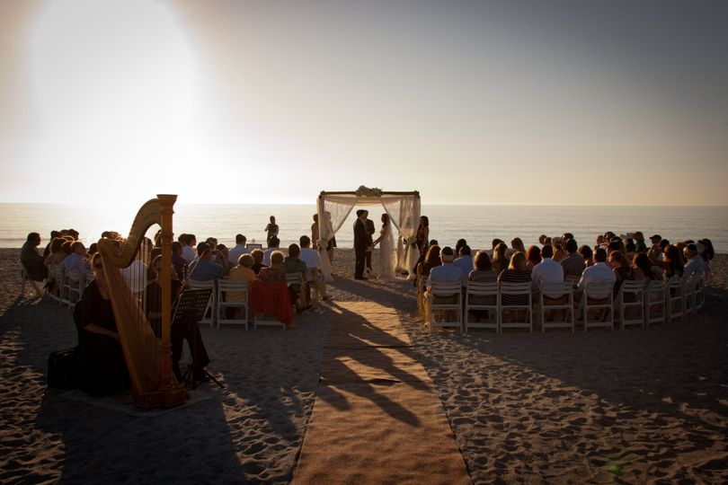 Wedding ceremony on the beach at Tween Waters Inn on Captiva Island