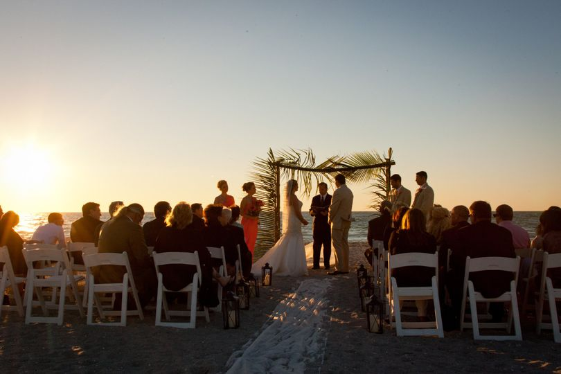 Fort Myers beach wedding ceremony