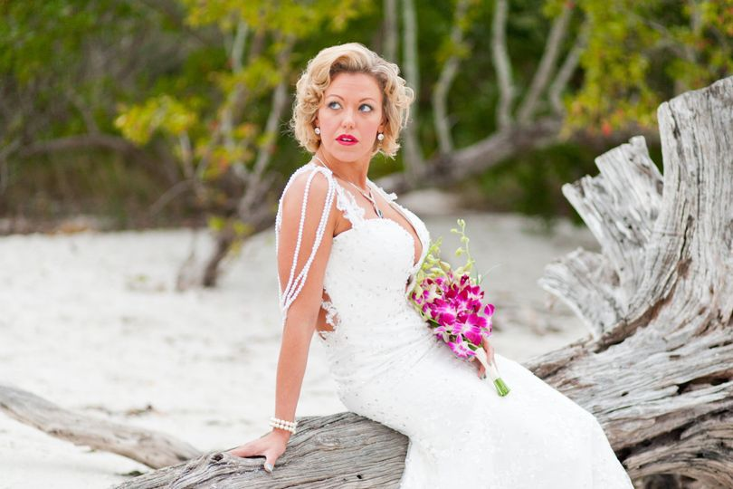 this bride looked just wonderful at her sunrise wedding ceremony on Sanibel Island