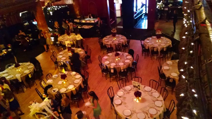 View of the tables from the second floor
