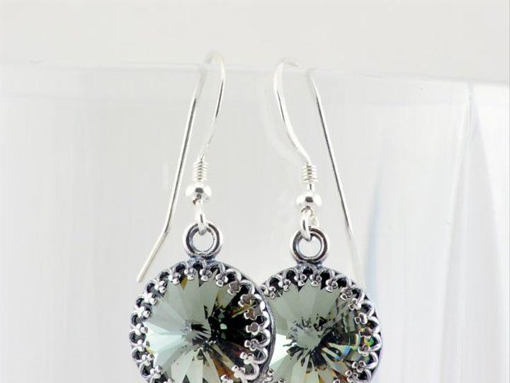 Tmx 1292812082354 BlackDiamond12mmRivoliEarrings1 Whitinsville wedding jewelry