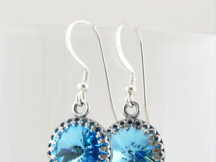 Tmx 1292812088776 Aquamarine12mmRivoliEarrings1 Whitinsville wedding jewelry