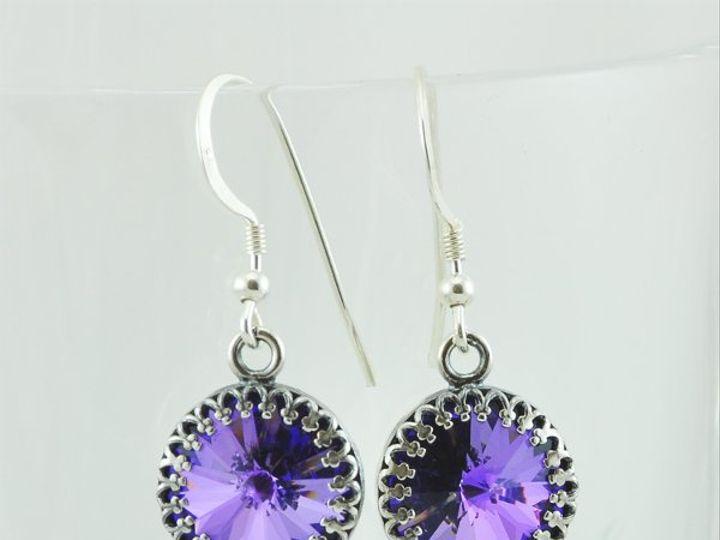 Tmx 1292812116229 CrystalHeliotrope12mmRivoliEarrings4 Whitinsville wedding jewelry