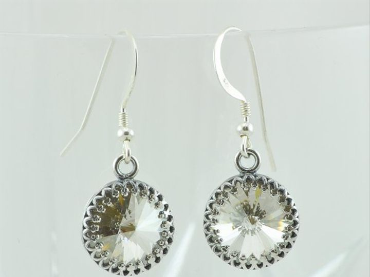 Tmx 1292812143323 SilverShade12mmRivoliEarrings4 Whitinsville wedding jewelry