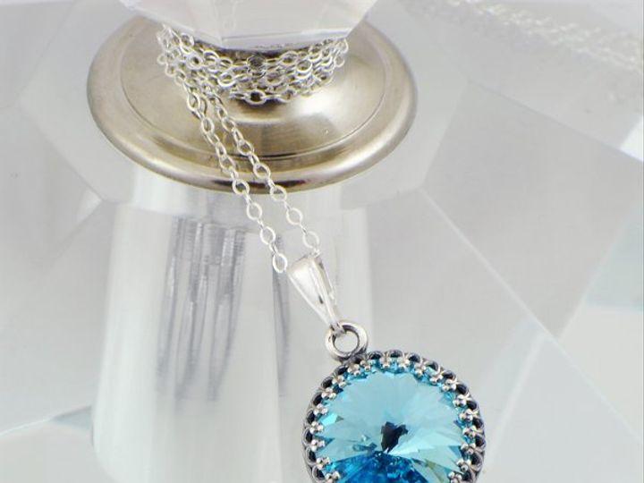 Tmx 1292812150495 Aquamarine14mmVictorianRivoliNecklace3 Whitinsville wedding jewelry