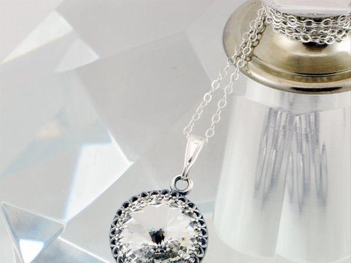 Tmx 1292812163729 Clear14mmVictorianRivoliNecklace2 Whitinsville wedding jewelry