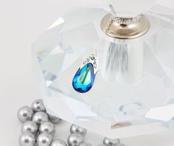Tmx 1292812169198 BermudaBlueTeardropNecklace3 Whitinsville wedding jewelry