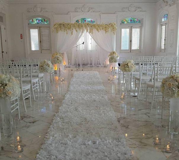 Antiguo Casino, Old San Juan Carissa and James' Wedding Ceremony  #CelebrityWedding