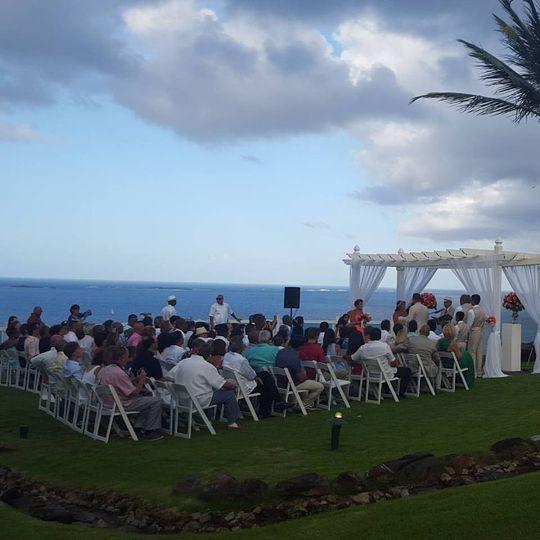 ocean view wedding