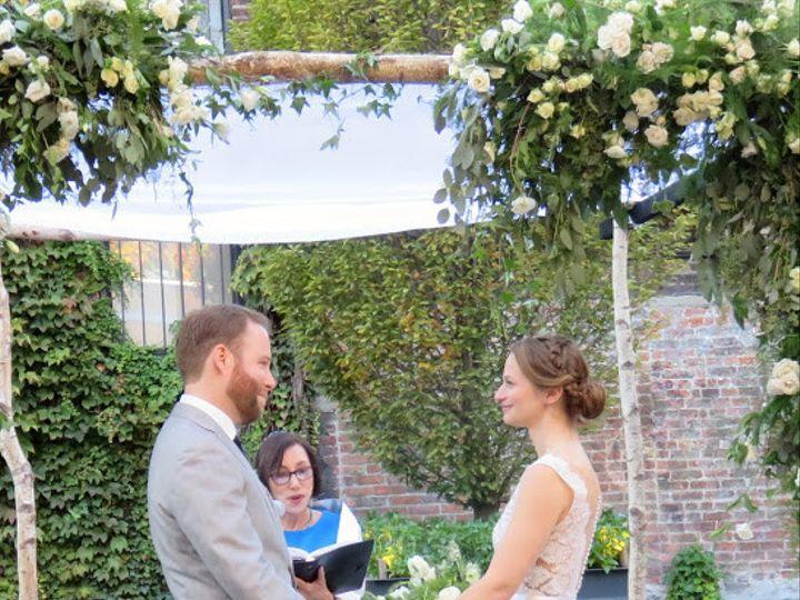Tmx 1477668272316 Jason And Me Chuppah Really Sweet White Plains, NY wedding officiant
