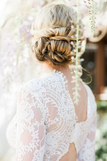 Low updo style