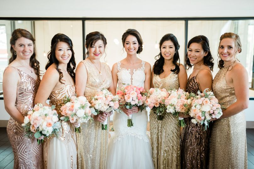Jacqueline and bridal party