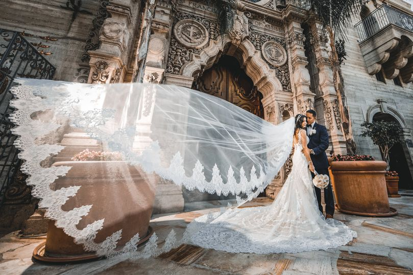 Gorgeous bridal veil