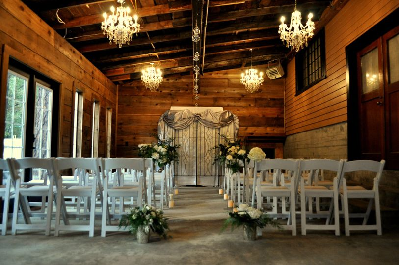 Intimate wedding space