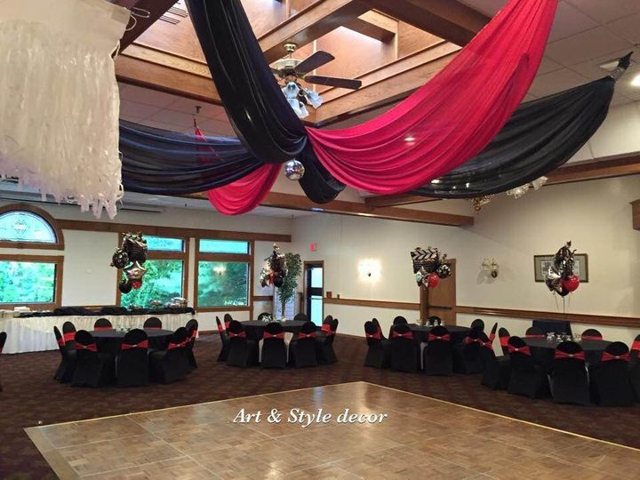 black and red wedding or