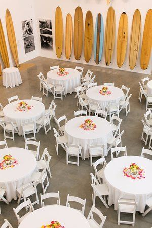 The Museum's grand Main Gallery setup for a gorgeous wedding dinner