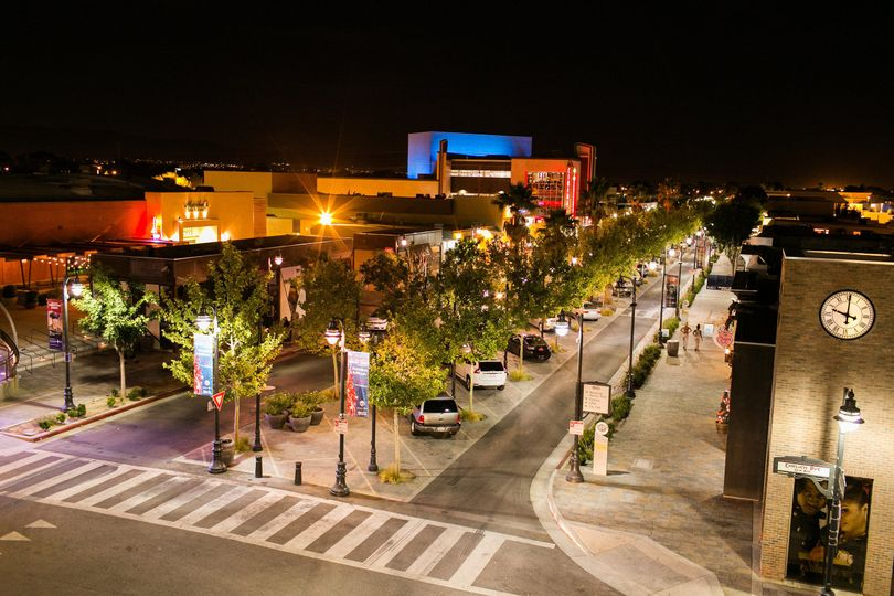Downtown Lancaster at night