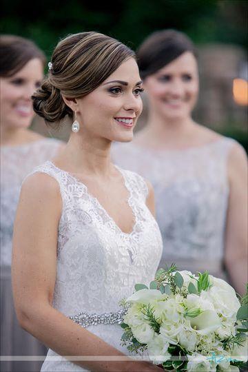 Bride at her wedding