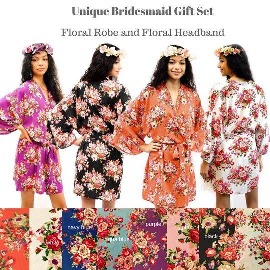 Bridesmaid Robes, Gift for Bridesmaid, Robe for Bridesmaid, Bridesmaid Robe, Bridesmaid Gift, Bridal...