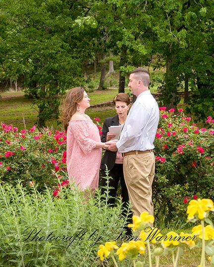 Very small wedding held at Avondale Park in Birmingham, AL.  Officiant is Cindy Warriner of...