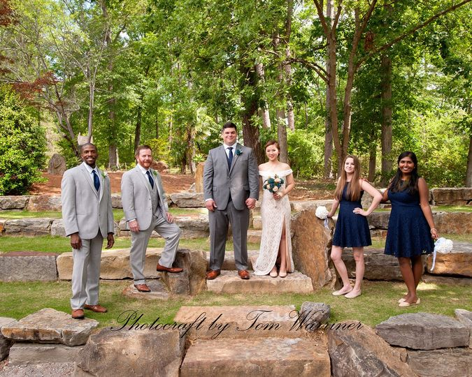 Multicultural wedding held at the Birmingham Botanical Gardens in Birmingham, AL.
