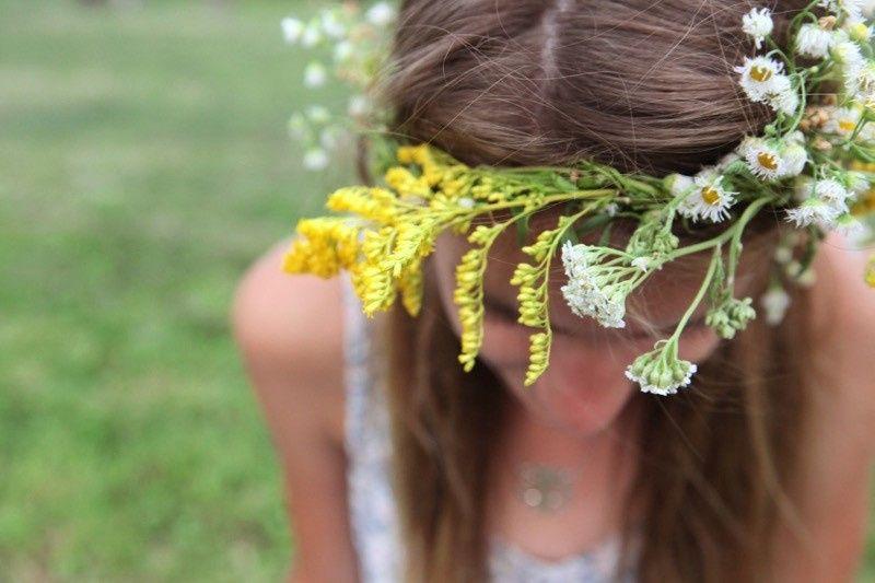 A homemade flower crown